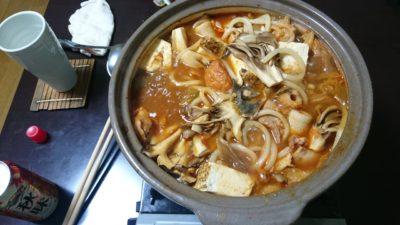 鮭のキムチ鍋