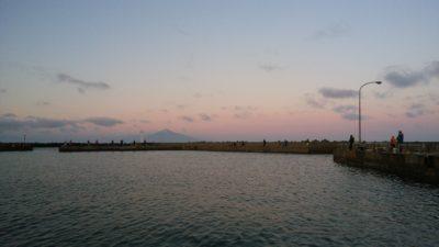 朝の漁港の様子