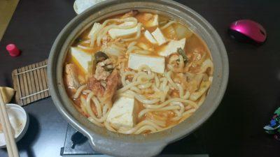 鮭鍋(キムチ風味)