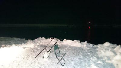 夜釣りの釣り座の様子