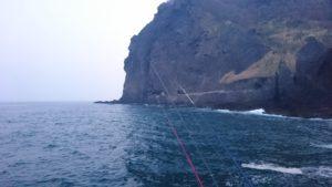 釣り座からの風景