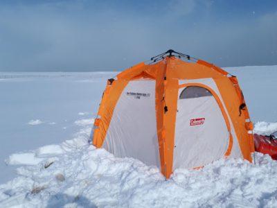 テント設営後の外の様子