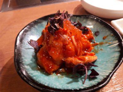 鮭のキムチ