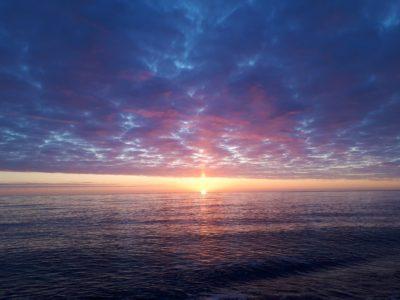 オホーツク海の日の出